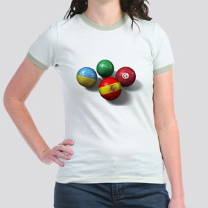 Four National Team Balls Jr. Ringer T-Shirt