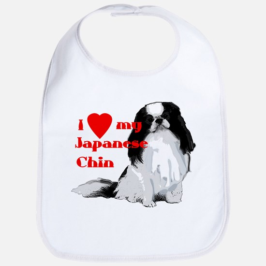 Japanese Chin valentine Bib