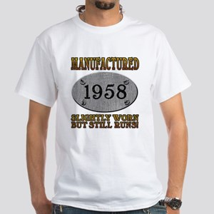 Manufactured 1958 White T-Shirt