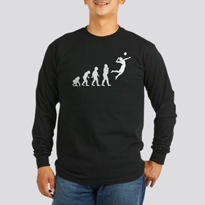 Volleyball Long Sleeve Dark T-Shirt