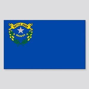 Nevada State Flag Sticker (Rectangle)