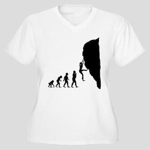 Rock Climbing Women's Plus Size V-Neck T-Shirt