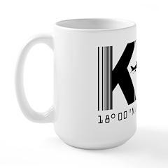 Kingston Airport Code Jamaica Ktp Large Mug Mugs
