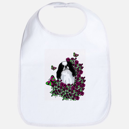 floral Japanese Chin Bib