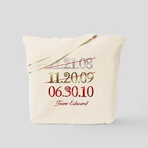 Team Edward Dates Tote Bag