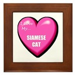 I Love My Siamese Cat Framed Tile