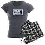 Real Talk Logo Women's Charcoal Pajamas
