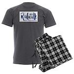 Real Talk Logo Men's Charcoal Pajamas