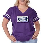 Real Talk Logo Women's Plus Size Football T-Shirt