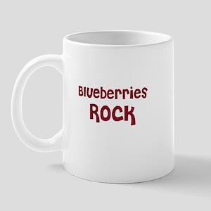 Blueberries Rock Mug