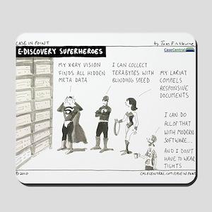 e-Discovery Superheroes Mousepad