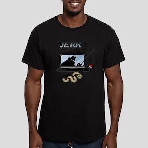 Gone Phishin' Men's Fitted T-Shirt (dark)