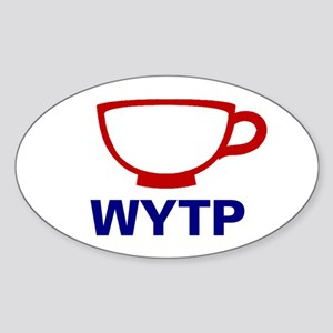 Wyoming - Teacup, Sticker (Oval)