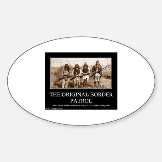 Cute Border patrol Sticker (Oval)