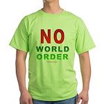 No World Order Green T-Shirt