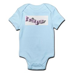 FAYE NAME PINK FANCY LETTERS Infant Creeper