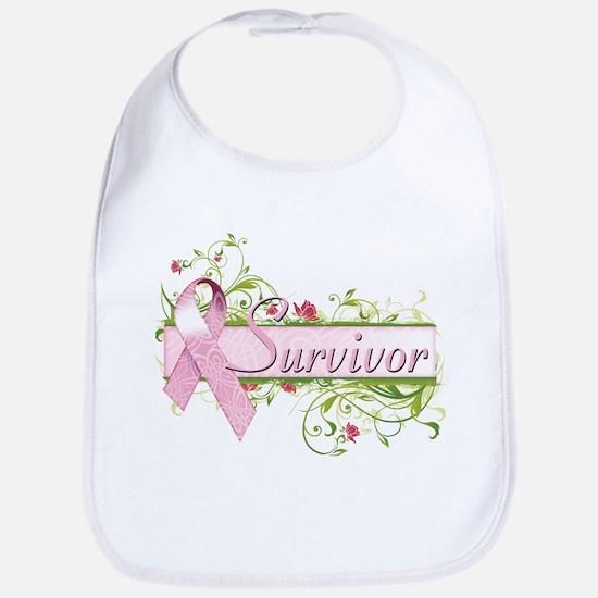 Survivor Floral Bib