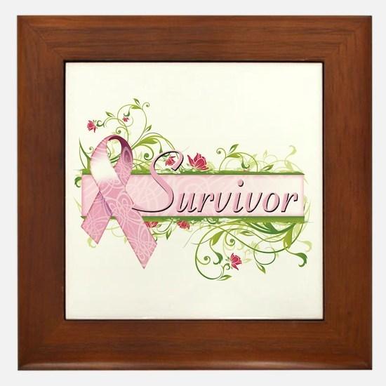 Survivor Floral Framed Tile