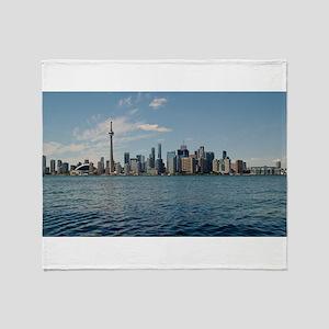 Toronto Cityscape Throw Blanket