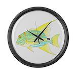 Sailfin Snapper Large Wall Clock