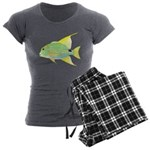 Sailfin Snapper Women's Charcoal Pajamas