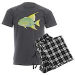 Sailfin Snapper Men's Charcoal Pajamas