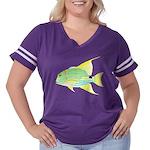 Sailfin Snapper Women's Plus Size Football T-Shirt