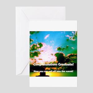 Graduation Graduate Sunset Greeting Card
