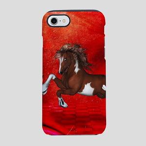 Beautiful wild horse on fantasy background iPhone