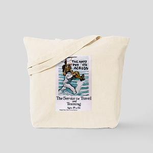 The Navy Put 'Em Across Tote Bag
