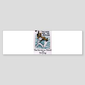 The Navy Put 'Em Across Sticker (Bumper)