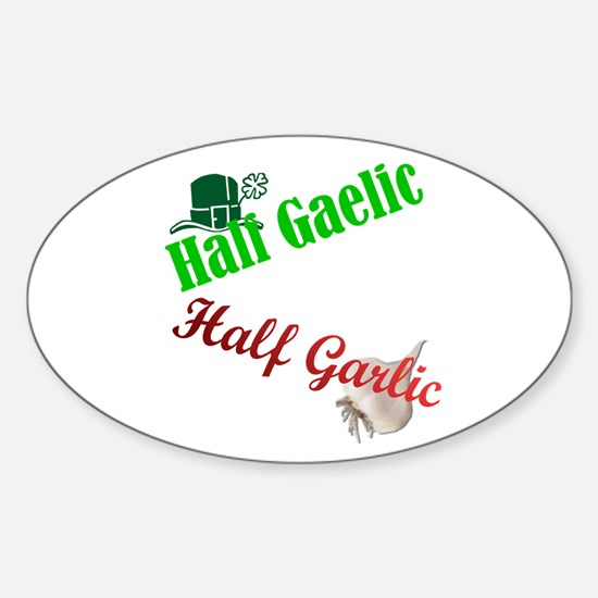 Half N' Half Sticker (Oval)