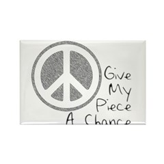 Give Piece A Chance Rectangle Magnet (10 pack)