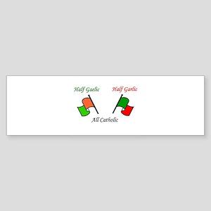 Half N' Half - Catholic Sticker (Bumper)