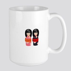 Japanese Kokeshi Dolls Large Mug