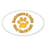 Pit Bull Sticker (Oval 10 pk)