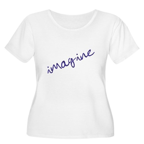imagine - light Women's Plus Size Scoop Neck T-Shi