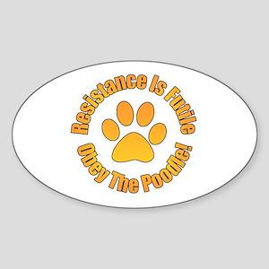 Poodle Sticker (Oval)