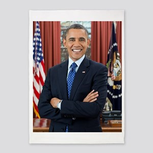 Official Presidential Portrait 5'x7'Area Rug