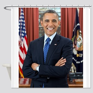 Official Presidential Portrait Shower Curtain