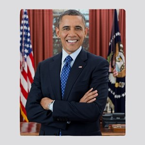 Official Presidential Portrait Throw Blanket