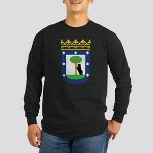 Madrid Coat Of Arms Long Sleeve Dark T-Shirt