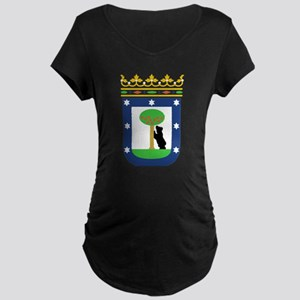 Madrid Coat Of Arms Maternity Dark T-Shirt