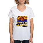 Viva Los SB1070 Women's V-Neck T-Shirt