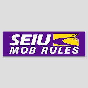SEIU - Mob Rules, Sticker (Bumper)