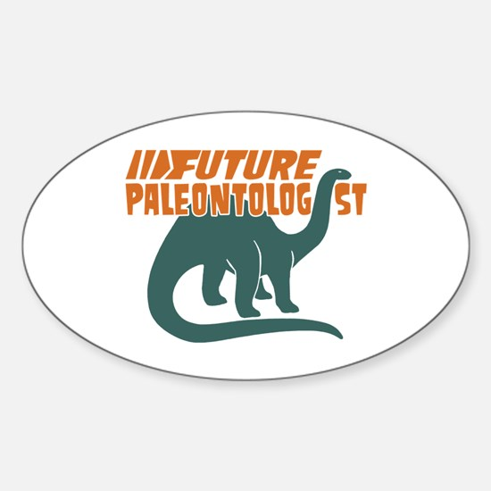 Future Paleontologist Sticker (Oval)