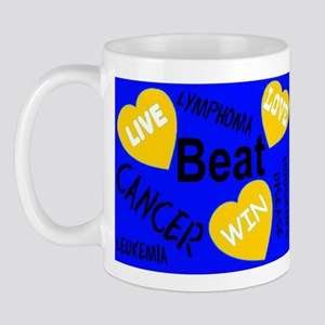 Beat Cancer! Live! Love! Win! Mug
