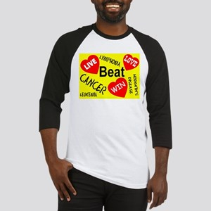 Beat Cancer! Live! Love! Win! Baseball Jersey