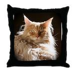 Maine Coon Cat Throw Pillow
