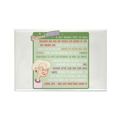 A Gorgeous Grandma Is... Rectangle Magnet